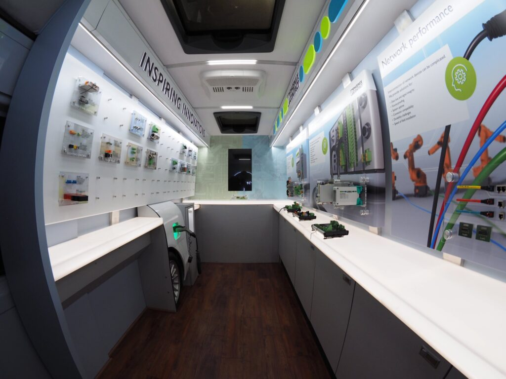 mobile marketing vehicle interior