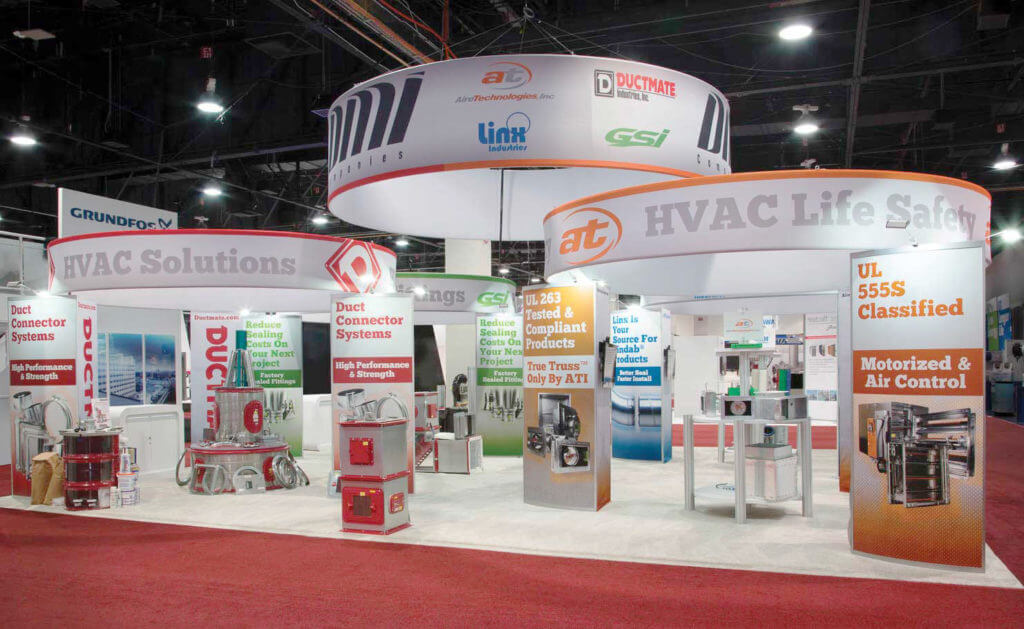 Aire Technologies HVAC trade show booth