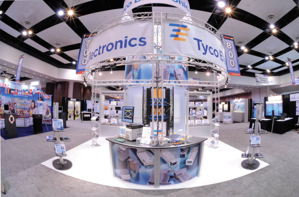 Tyco electronics trade show booth